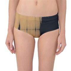 Sunset Black Mid-Waist Bikini Bottoms