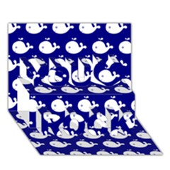 Cute Whale Illustration Pattern You Rock 3D Greeting Card (7x5)