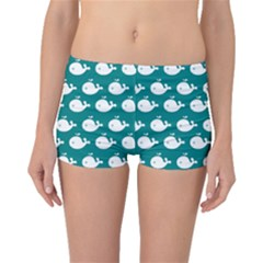 Cute Whale Illustration Pattern Boyleg Bikini Bottoms
