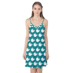 Cute Whale Illustration Pattern Camis Nightgown