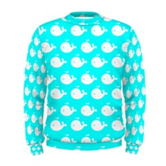 Cute Whale Illustration Pattern Men s Sweatshirts