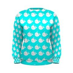 Cute Whale Illustration Pattern Women s Sweatshirts