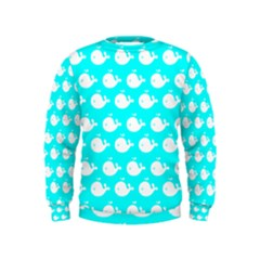 Cute Whale Illustration Pattern Boys  Sweatshirts