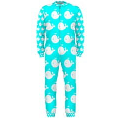 Cute Whale Illustration Pattern Onepiece Jumpsuit (men)