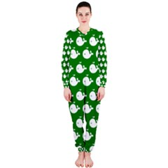 Cute Whale Illustration Pattern OnePiece Jumpsuit (Ladies)