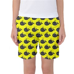 Cute Whale Illustration Pattern Women s Basketball Shorts