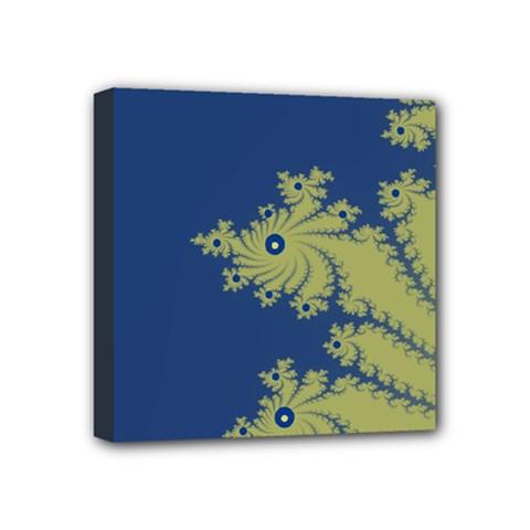 Blue and Green Design Mini Canvas 4  x 4