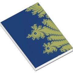 Blue And Green Design Large Memo Pads