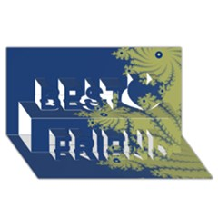 Blue And Green Design Best Friends 3d Greeting Card (8x4)