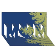 Blue And Green Design Mom 3d Greeting Card (8x4)
