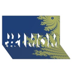 Blue and Green Design #1 MOM 3D Greeting Cards (8x4)