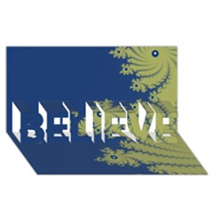 Blue and Green Design BELIEVE 3D Greeting Card (8x4)