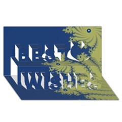 Blue and Green Design Best Wish 3D Greeting Card (8x4)