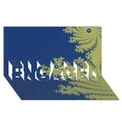 Blue And Green Design Engaged 3d Greeting Card (8x4)