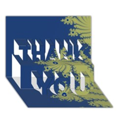Blue and Green Design THANK YOU 3D Greeting Card (7x5)