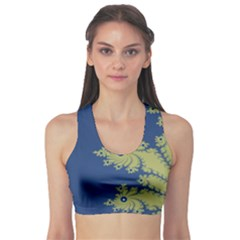 Blue And Green Design Sports Bra