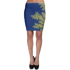 Blue And Green Design Bodycon Skirts