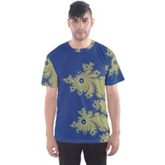 Blue and Green Design Men s Sport Mesh Tees