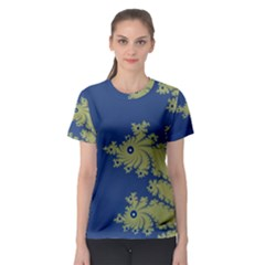 Blue and Green Design Women s Sport Mesh Tees