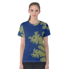 Blue and Green Design Women s Cotton Tees