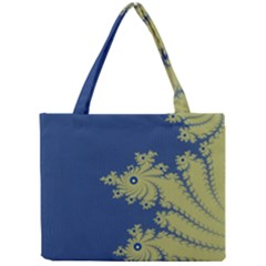 Blue And Green Design Tiny Tote Bags