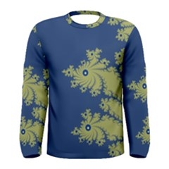 Blue and Green Design Men s Long Sleeve T-shirts