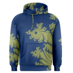 Blue and Green Design Men s Pullover Hoodies