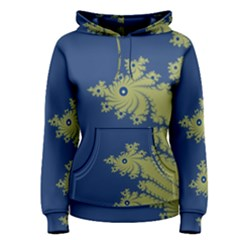 Blue And Green Design Women s Pullover Hoodies