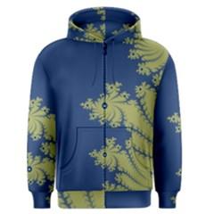 Blue and Green Design Men s Zipper Hoodies