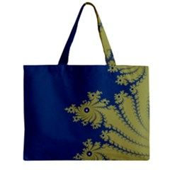 Blue And Green Design Zipper Tiny Tote Bags