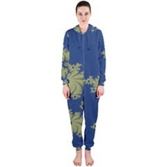 Blue and Green Design Hooded Jumpsuit (Ladies)