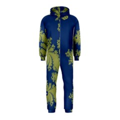 Blue and Green Design Hooded Jumpsuit (Kids)