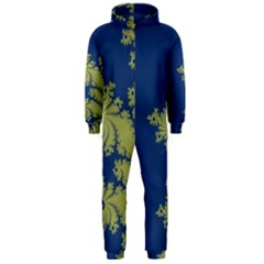 Blue and Green Design Hooded Jumpsuit (Men)