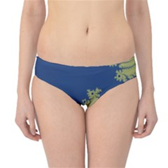 Blue and Green Design Hipster Bikini Bottoms