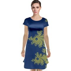 Blue and Green Design Cap Sleeve Nightdresses