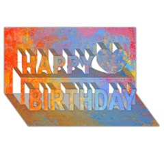 Hot And Cold Happy Birthday 3d Greeting Card (8x4)