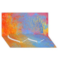 Hot And Cold Twin Heart Bottom 3d Greeting Card (8x4)