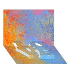 Hot and Cold LOVE Bottom 3D Greeting Card (7x5)