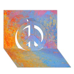 Hot And Cold Peace Sign 3d Greeting Card (7x5)