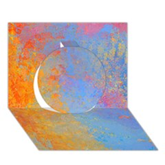 Hot And Cold Circle 3d Greeting Card (7x5)