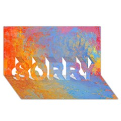 Hot and Cold SORRY 3D Greeting Card (8x4)