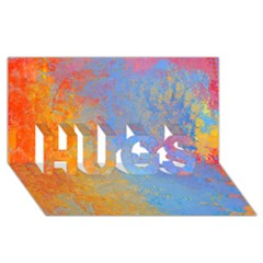 Hot and Cold HUGS 3D Greeting Card (8x4)