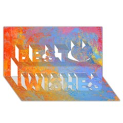 Hot And Cold Best Wish 3d Greeting Card (8x4)