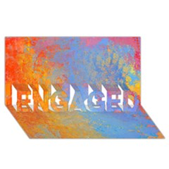 Hot and Cold ENGAGED 3D Greeting Card (8x4)