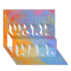 Hot And Cold Work Hard 3d Greeting Card (7x5)