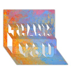Hot and Cold THANK YOU 3D Greeting Card (7x5)