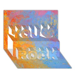Hot and Cold You Rock 3D Greeting Card (7x5)