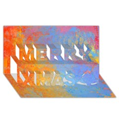 Hot and Cold Merry Xmas 3D Greeting Card (8x4)