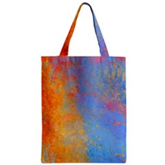 Hot and Cold Zipper Classic Tote Bags
