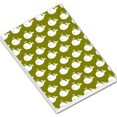 Cute Whale Illustration Pattern Large Memo Pads